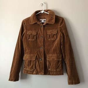 Ann Taylor Loft rich brown velvet jacket